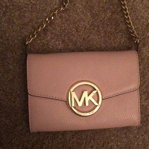 Pink Michael kors wallet crossbody bag